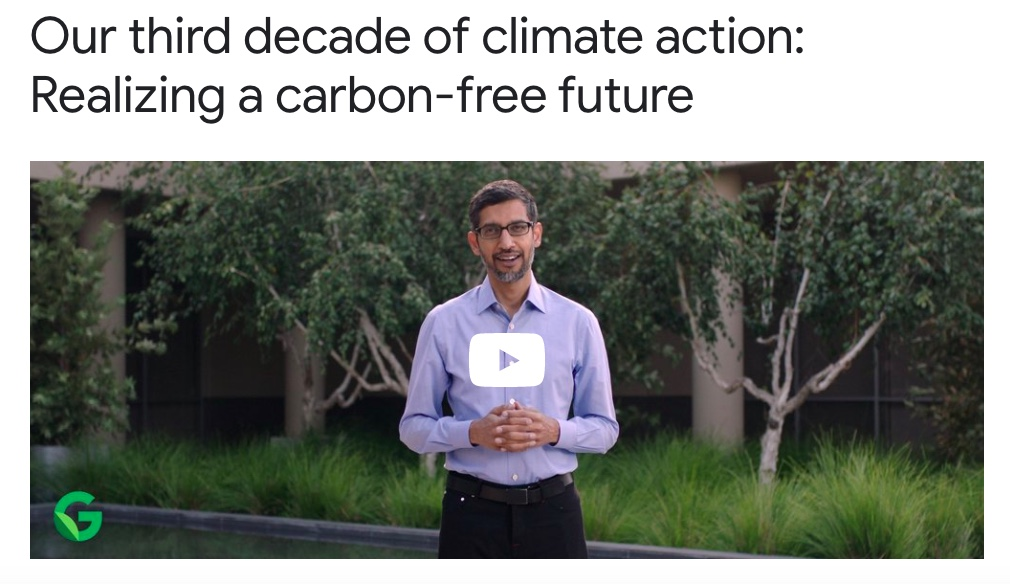 Google Climate Change Carbon Free